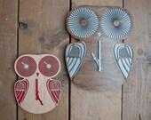 Modern Wall clock - Red Twiggy Owl