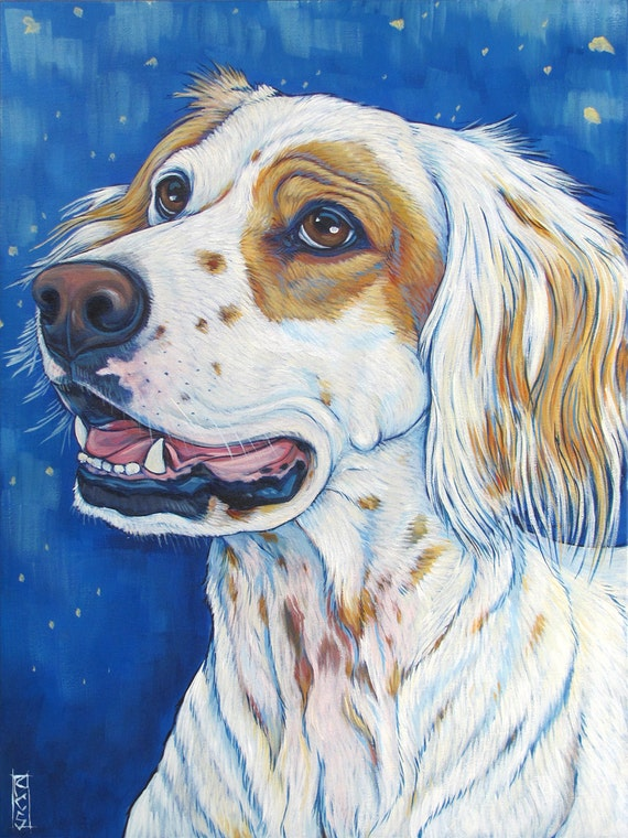 "Custom Pet Portrait in Acrylic Paint on 18"" x 24"" Canvas of One Horse, Dog, Cat, Other Animal. Horse Lover OOAK Art Gift or Horse Memorial"