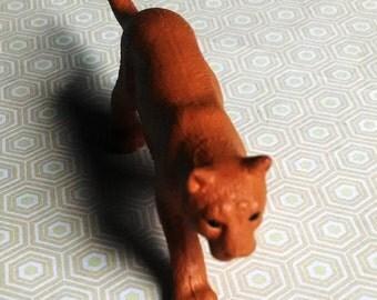 Miniature Mountain lion /Terrarium Supply / Diorama / Mini Animals / Mountain lion / cougar / Puma / altered art / assemblage / mixed media
