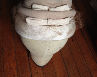 Taupe Beehive Hat