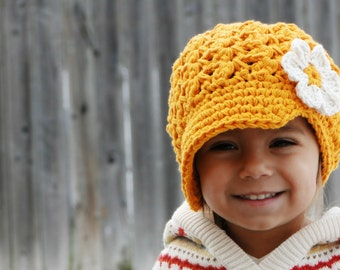 Hat for Girls, crochet baby hat, kids hat, newsboy hat, crochet newsboy hat, toddler hat