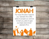 """Jeremiah 29:11 """"For I know the plans I have for you..."""" Basketball - Printable Home Decor Artwork - Print it Yourself JPG - Piy"""