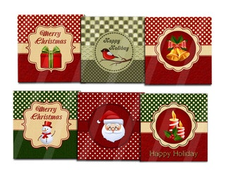 Digital Christmas Gift Tags With Envelopes