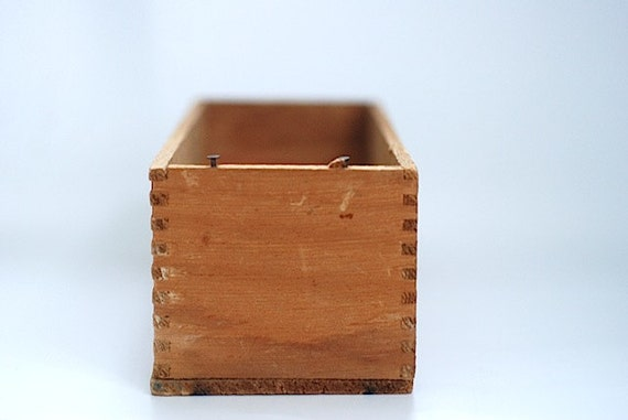 Rustic small wooden cream cheese box antique by thenewtonlabel - Small rustic wooden boxes ...