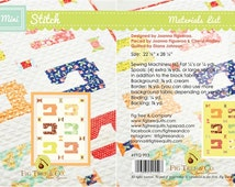 MINI Wall Hanging - Stitch Sewing Machines Quilt Pattern - Fig Tree and Co - Moda Fabrics - Mini Charm or Charm Pack Friendly
