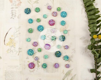 Prima FOREVER GREEN  Say It In Crystals Adhesive Gem Dot