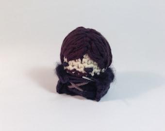 """Game of Thrones Jon Snow Stark Crocheted Amigurumi Kawaii Keychain Miniature Doll """"Pod People"""""""