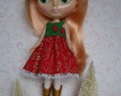 BLYTHE Party Dress-North Winds on Red