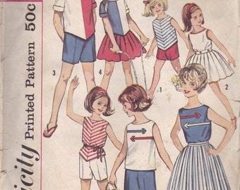 Girls Summer Wardrobe Pattern Simplicity 4457 Size 4