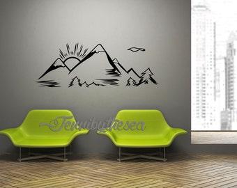 popular items for mountain range on etsy. Black Bedroom Furniture Sets. Home Design Ideas