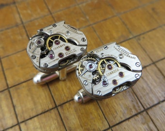 One of a Kind International Watch Company (IWC) Watch Movement Cufflinks. Great for Fathers Day, Anniversary, Wedding or Just Because