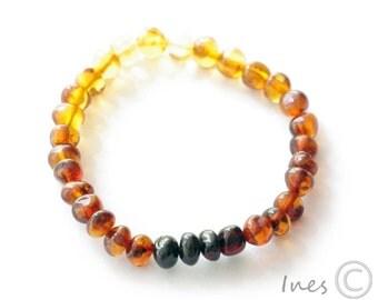 Baltic Amber Rainbow Bracelet