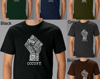 """Men's T-shirt - Occupy Wall Street - Fight The Power - Created using the words """"Fight The Power"""""""