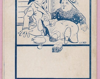 Ca 1901-06 Undivided Back Victorian Comical Greeting Postcard - 1448
