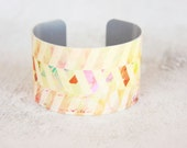 Trending Bracelet - Cream and Color Cuff - Trending Bracelets - Womens Fashion Trends - Chunky Cuff - Large Cuff Bracelet  (276)