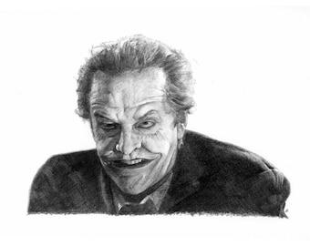 JOKER pencil drawing Jack Nicholson poster