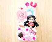 Sailor Moon - Sailor Mars themed Iphone 5/5S clear case decoden