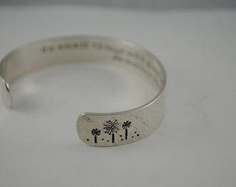 Custom Secret Message Hand Stamped Bracelet- Personalized Bracelet