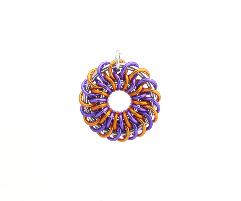 chain maille pendant jump ring jewelry aluminum pendant