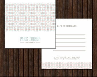 5X5 Photography Gift Certificate - MK9A