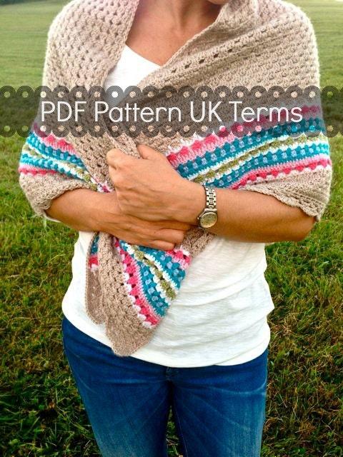Crochet pattern Nordic Shawl Crochet Shawl UK terms instant