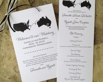 Custom Wedding Program, Tea Length