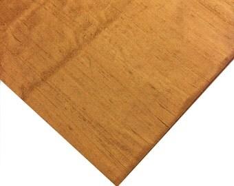 Indian Silk Fabric - Pure Silk Dupioni - Raw Mulberry Silk - Classic Mustard - Indian Dupioni Silk -Dupioni Silk