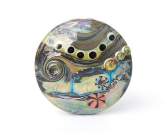 Large Abstract Lampwork Glass Bead