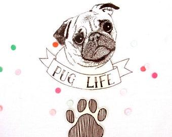 Pug life temporary tattoo