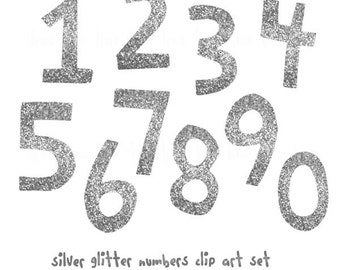 silver glitter numbers instant download clip art, silver digital glittter birthday numbers clipart, modern birthday number clip art png 91