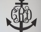 "Small (6"") Wooden Anchor Monogram-Ready to Paint-Perfect for Gift Topper, Easter Basket, Hostess Gift, Bridal Party"