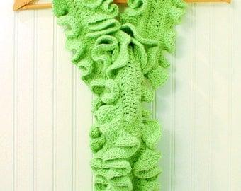 Crochet Pattern - Ruffle Scarf Pattern (two sizes) - Instant PDF Download