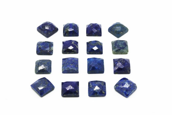GCF-1074 - Lapis Lazuli Cabochon - Square 12x12mm - Faceted Cabochon - Gemstone Cabochon - AA Quality - 1 Pc
