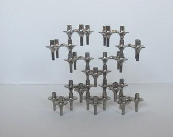 12 BMF orion candle holders, design vintage stackable candle sticks
