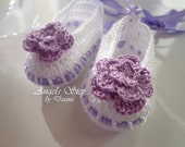 Crochet Baby Shoes, Ballerinas