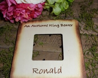 Rustic Picture Frame An Awesome Ring Bearer Gift Personalized