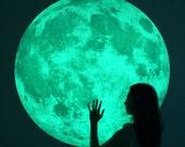 XL-size Moonlight night-light wall-sticker, Clair De Lune (glow in the dark moon wall sticker-100cm/39inch)