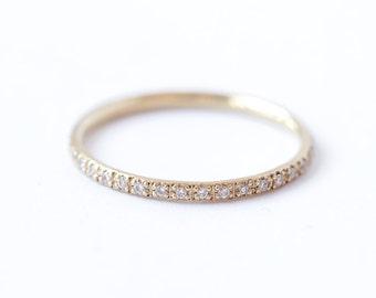 Diamond Eternity Band, Eternity Wedding Band, Thin Diamond Ring, Thin Diamond Eternity Band, Skinny Eternity Ring, Diamond Wedding Ring