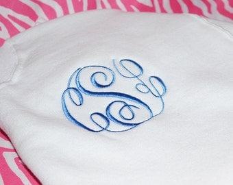 Monogram Sweatshirt, Monogram Fleece Shirt, Personalized Sweatshirt, Monogram Crew Sweatshirt
