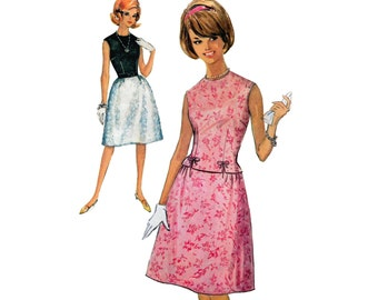 Simplicity 5153 Skirt and Sleeveless Blouse Two Piece Dress Early 60's Sewing Pattern Bust 31 half