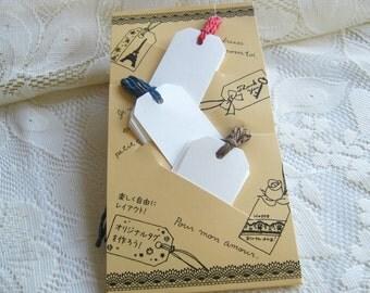 Tag, Paper Tag with Rope, White Mini Paper Tags, Kraft Tag 15 pcs, party Tag, Gigt Tag, bakery Bag tag, birthday tag,