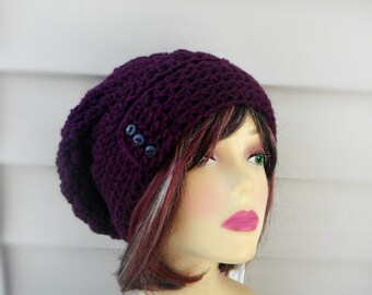 Winter Hat Women Crochet Slouchy Hat Womens Slouchy Beanie Womens Accessories