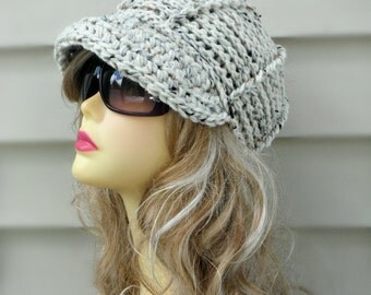 Crochet Newsboy Hat Crochet Brim Hat Hat With Button Crochet Womens Hat Winter Hat Ladies Hat Hair Accessories Winter Accessories
