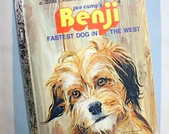Benji, Fastest Dog In The West, 1978 Little Golden Book