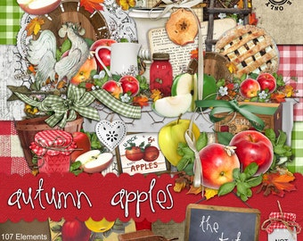 Autumn Apples - Digital Scrapbook Kit