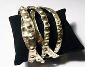 Bangles. set of  bracelets. golden brass bracelets in set of 5. boho jewelry.summer jewelry. handmade contemporary jewelry. free shipping