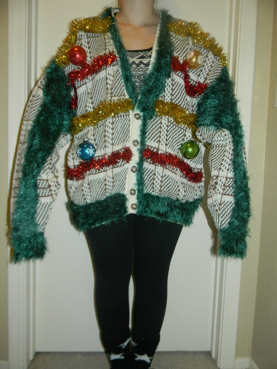 Ugly christmas sweater grinch by karensartisticways on etsy
