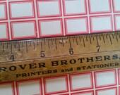 56 Vintage Dennison's Gummed Labels Small Red Border No.223 | LAST ONES