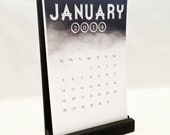 Chalboard Design Handmade Calendar with Stand