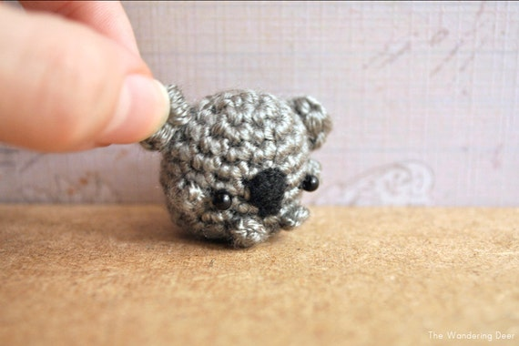 Amigurumi Koala Keychain : Koala keychain koala amigurumi kawaii koala tiny koala